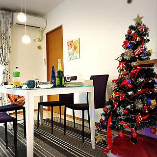 女性33歳の家族暮らし4LDK、クリスマスに関するemichiさんの実例写真