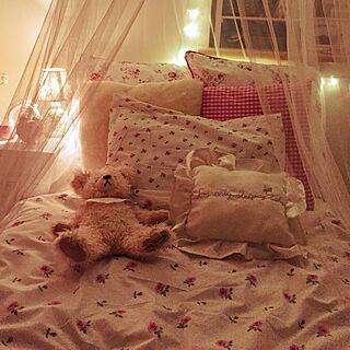 ベッド周り/姫部屋/照明/モスキートネット/ベッドルーム/IKEA...などのインテリア実例 - 2015-02-01 23:53:11