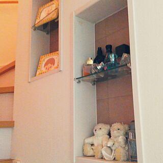 壁/天井/ニッチ棚/香水/子供の絵/すっきり暮らしたい...などのインテリア実例 - 2017-02-27 17:40:34