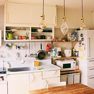 男性の、、家族住まいの「キッチン」についてのインテリア実例