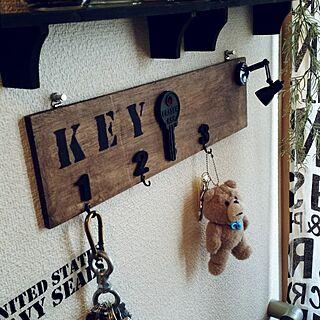 玄関/入り口/寝不足/なんでも作りたい!/家にあるものでDIY/廃材DIY...などのインテリア実例 - 2017-04-24 14:58:13