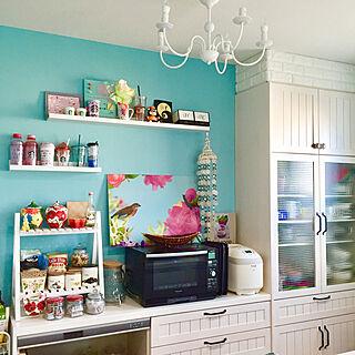 女性33歳の家族暮らし3LDK、飾り棚ディスプレイに関するmimiさんの実例写真
