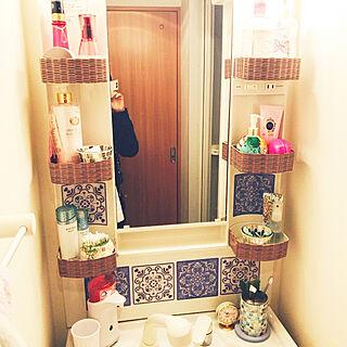 女性一人暮らし1DK、洗面台リメイクに関するreiさんの実例写真