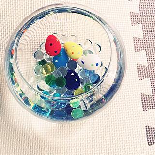机/ガラス雑貨/水の中♡/癒やし/爽やかのインテリア実例 - 2017-08-04 09:38:41