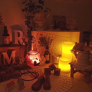 ベッド周り/ベッド周りじゃないですが…/セリア/かぼちゃ/ハロウィン飾り...などのインテリア実例 - 2014-09-04 06:31:15
