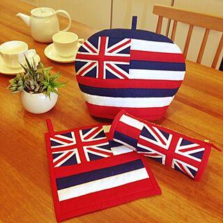 女性家族暮らし、ハワイ州旗クッションに関するKOKOさんの実例写真