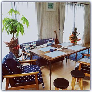 丸椅子もカリモクの高さにオーダー/beach house/観葉植物のある部屋/ニトリ/星柄...などのインテリア実例 - 2016-04-03 13:00:42
