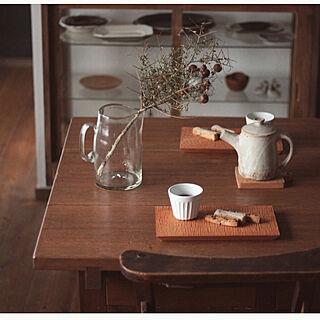 女性31歳の家族暮らし2LDK、古いガラスケースに関するmoco2_homeさんの実例写真