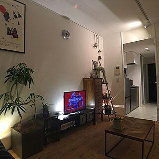 部屋全体/一人暮らし/1K/間接照明のある暮らしのインテリア実例 - 2019-03-18 22:04:58