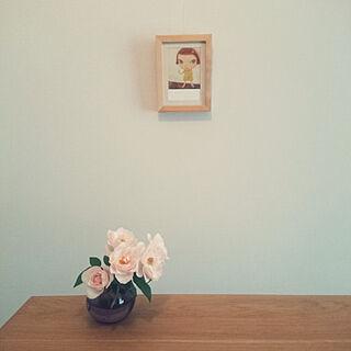一人暮らし1LDK、バラに関するchrさんの実例写真