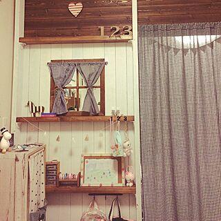 壁/天井/ガーランド/板壁/ディアウォールの壁/子供部屋...などのインテリア実例 - 2017-04-07 21:06:49