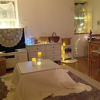 女性家族暮らし、お部屋イルミに関するnaoさんの実例写真