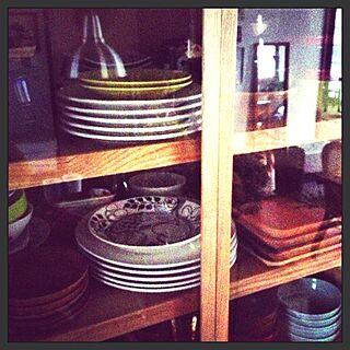 、食器棚の中に関するさんの実例写真