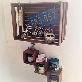 壁/天井/リメ缶/リメ流木/植物/セリア...などのインテリア実例 - 2013-12-31 15:28:14