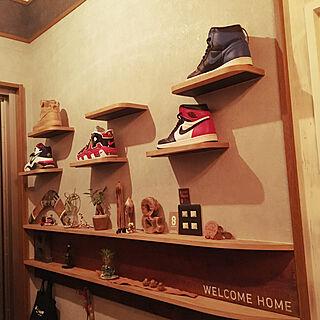 女性家族暮らし4LDK、靴の居場所に関するsacchanさんの実例写真