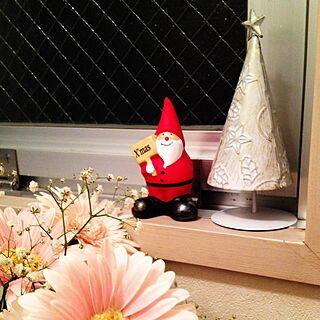 玄関/入り口/賃貸/セリア/雑貨/クリスマス仕様に飾りました^ ^...などのインテリア実例 - 2014-11-08 21:37:35