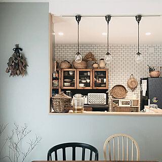 IKEAの椅子/ペンダント照明/ブルーグレーの壁/かご大好き♡/秋色...などのインテリア実例 - 2019-10-07 15:05:37