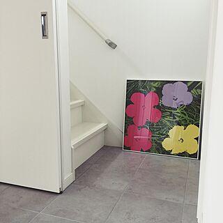 女性35歳の家族暮らし3LDK、階段室に関するharuneko0504さんの実例写真