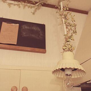 キッチン/リメイク/黒板/照明/chanaさん...などのインテリア実例 - 2014-04-22 08:42:12