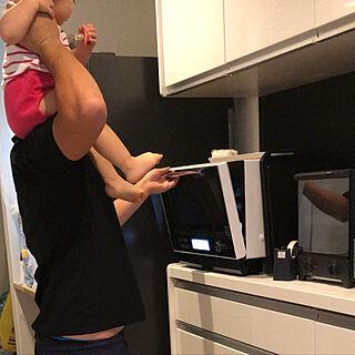 女性26歳の家族暮らし3LDK、電子レンジに関するteahさんの実例写真