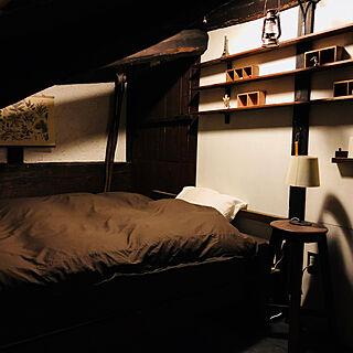 ベッド周り/無印のベッド/ニトリの照明/古民家/DIY...などのインテリア実例 - 2018-02-18 21:17:47