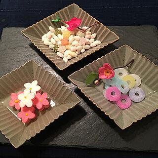 砂糖菓子/雛あられ/緑茶がいい/お雛祭り終わっても楽しめそう/小さくて食べやすい...などのインテリア実例 - 2021-03-04 17:37:22