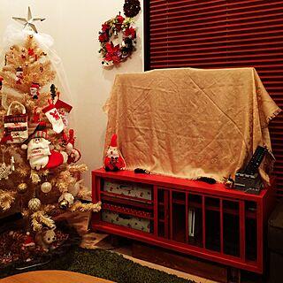 部屋全体/テレビ隠し/ルイ・ヴィトン/クリスマス/クリスマスツリー...などのインテリア実例 - 2016-11-28 16:35:44