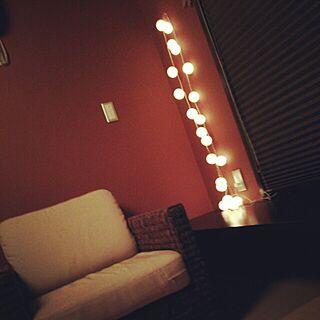 クリスマス/和室/椅子/ライトアップ♡/コットンボールランプ/コットンボールライトのインテリア実例 - 2014-11-29 21:58:32