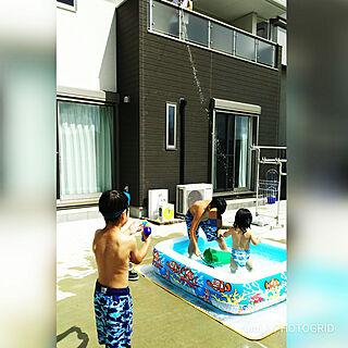 女性41歳の家族暮らし、プールに関するrumiさんの実例写真
