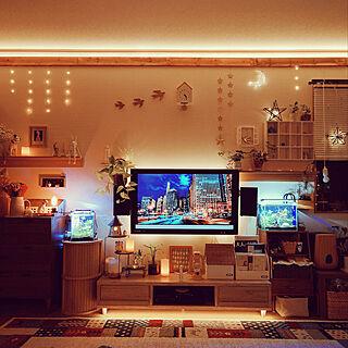 月ライト/賃貸/壁に付けられる家具/壁掛けテレビ/壁掛けスピーカー...などのインテリア実例 - 2019-03-23 23:21:17