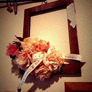 、英字ペーパー 薔薇のドライフラワーに関するさんの実例写真