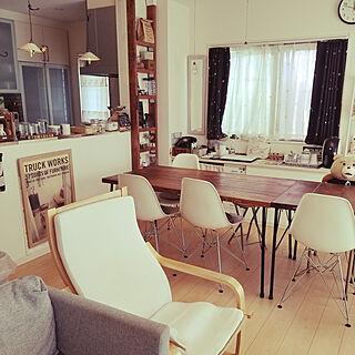 女性44歳の家族暮らし、Lounge 黒電話に関するringo_juiceさんの実例写真