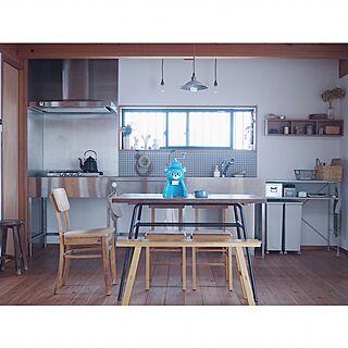 キッチン/古道具/キョロちゃん/ドライフラワー/無印良品 壁に付けられる家具...などのインテリア実例 - 2017-07-01 13:17:38