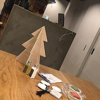 机/クリスマスツリー/mamyu ちゃんからの素敵便のインテリア実例 - 2018-11-22 22:55:49