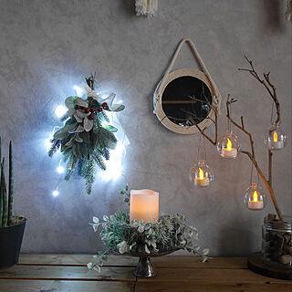 壁/天井/セリア/スワッグ/クリスマス2017/クリスマス...などのインテリア実例 - 2017-11-30 23:24:38