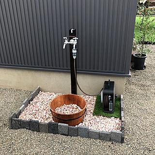 カインズ/ピンク砂利/ブロック/水栓柱/DIY...などのインテリア実例 - 2020-08-08 15:12:32