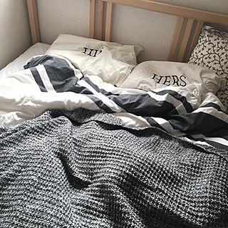 女性24歳の家族暮らし3LDK、白 ベッドに関するmonnaさんの実例写真