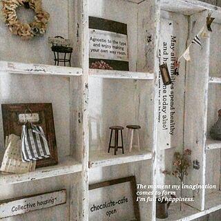 玄関/入り口/手作りサインプレート/みんなからの素敵便/飾り棚DIYのインテリア実例 - 2017-02-28 09:08:20