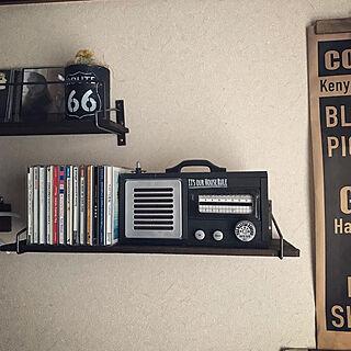 ラジオ風BOX/ラジオ風/模様替え/CD収納/100均DIY...などのインテリア実例 - 2020-04-08 20:59:22