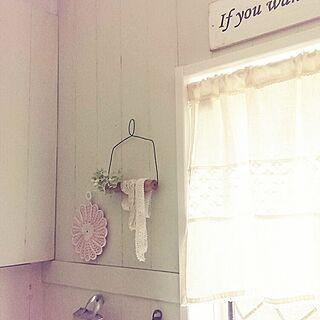 女性家族暮らし4LDK、糸巻きハンガー風に関するrottaさんの実例写真