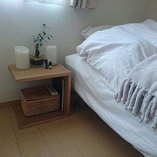 女性一人暮らし1R、1DK 無印良品 脚付きマットレスに関するtomokomoさんの実例写真