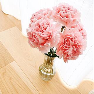 母の日/花瓶/カーネーション/子どものいる暮らし/ダイソー...などのインテリア実例 - 2021-05-09 14:12:01