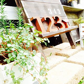 植物/ガーデン雑貨/ガーデニング/レンガ/看板風...などのインテリア実例 - 2015-06-22 12:35:56