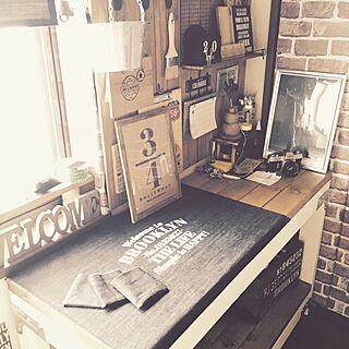 机/ダイソー/ハンドメイド/DIY/手縫い...などのインテリア実例 - 2016-04-21 14:16:22