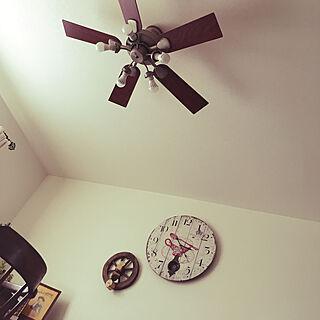 女性家族暮らし、壁掛け時計に関するmittanu-.-uさんの実例写真