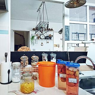 キッチン/ゆず茶/手作り味噌/りんご酢/タッパーウェア/引っかけ収納...などのインテリア実例 - 2018-12-07 14:58:45