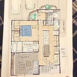32歳の家族暮らし3LDK、新築一戸建てに関するpepperさんの実例写真