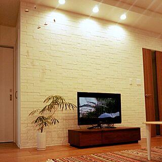 エコカラットの壁/テレビボード/フレンステッドモビール/IKEAのラグ/壁/天井のインテリア実例 - 2016-03-09 19:40:05