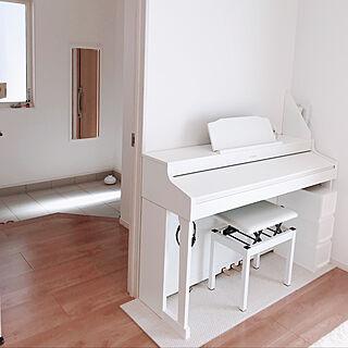 玄関/入り口/狭小住宅/ローランド/Roland/白いピアノ...などのインテリア実例 - 2018-10-02 14:42:56