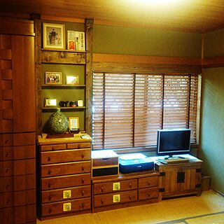 壁/天井/和室改造中~/古い家なりの良さを出したい!/ペンキ/ディアウォール...などのインテリア実例 - 2017-06-08 17:54:09